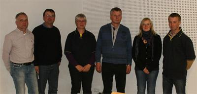 Der neue Fachbeirat Vielseitigkeit: v.l. Roland Maaß, Christian Zehe, Bianca Sack (Vorsitzende), Georg Koch, Andrea Sack (Jugendsprecherin), Andreas Brandt (Disziplintrainer).